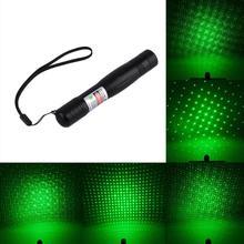 2016 Newest Green Laser Pointer Pen Clip Star Cap 532nm Adjustable Focus Beam Light(China (Mainland))