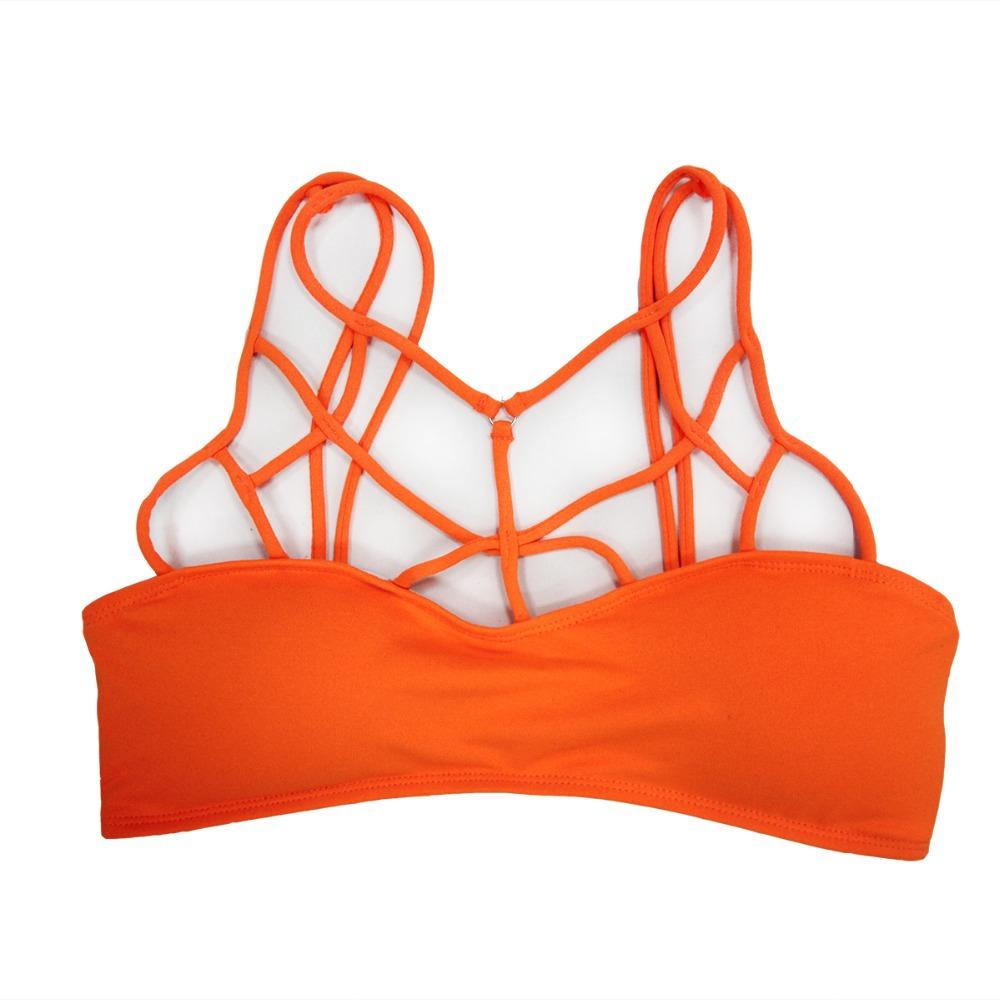 Ladies Mesh Cotton Strappy Tops Separate Bralette Women Bandage Bathing Suit Beach Wear Top Sports Bra S M L XL(China (Mainland))
