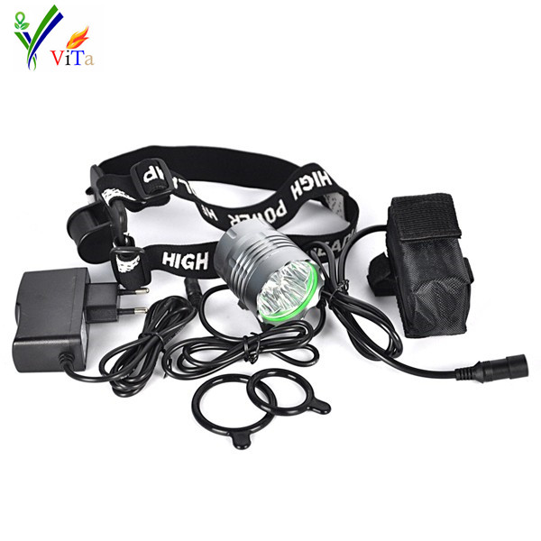 8000 Lumen 4x XM-L T6  LED Bicycle Headlight 3 Mode Cycling Front Light Bike Headlamp Headlight +8.4V Rechargeable Battery Pack