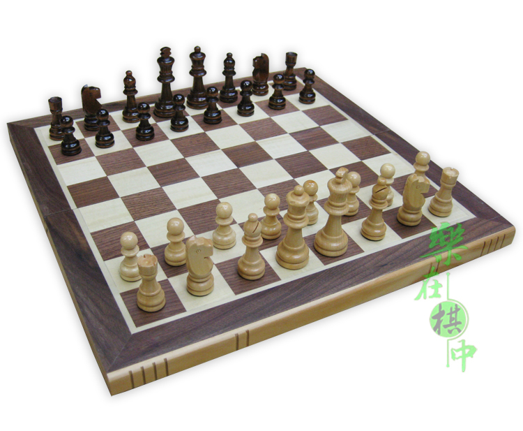 Free Shipping 3 In 1 Wood Chess Checkers Backgammon