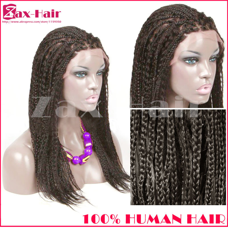 Hand crafted full lace human hair wigs 180% density braided wigs for black women curly black natural hairline kinky straight 6A(China (Mainland))
