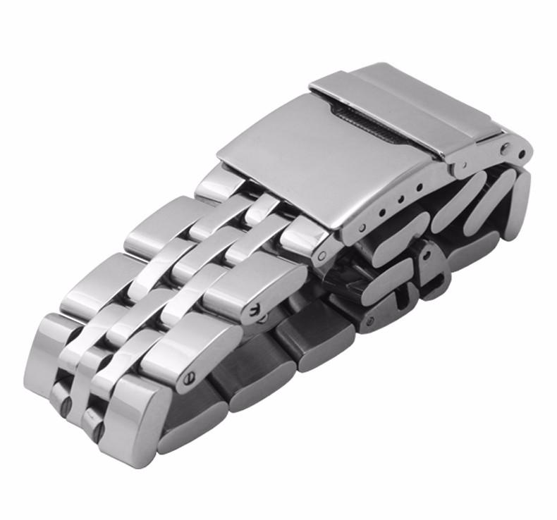 Нержавеющая сталь ремешок для часов A3733012 Раскладная застежка Твердая нержавеющая сталь, ремешок Универсальный интерфейс Часы аксессуары