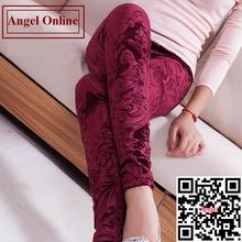 Autumn New 2014 Korean Slim Gold Velvet Leggings women Printed pencil pants Winter 9 candy color trousers Plus size S-M-L(China (Mainland))