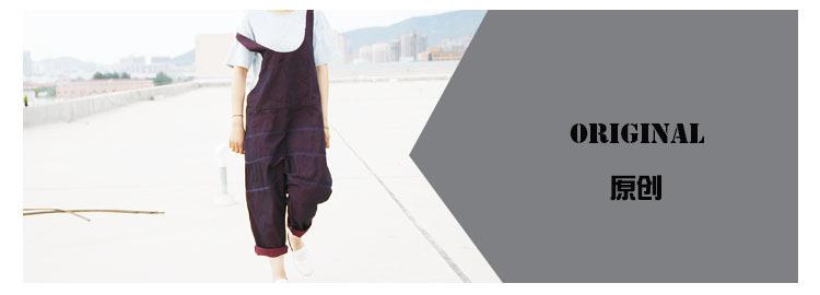 Women 2016 New Mori Girl Cute Jumpsuits Female Denim Jumpsuits Korean version Overalls large size Crotch Pants harem Trousers