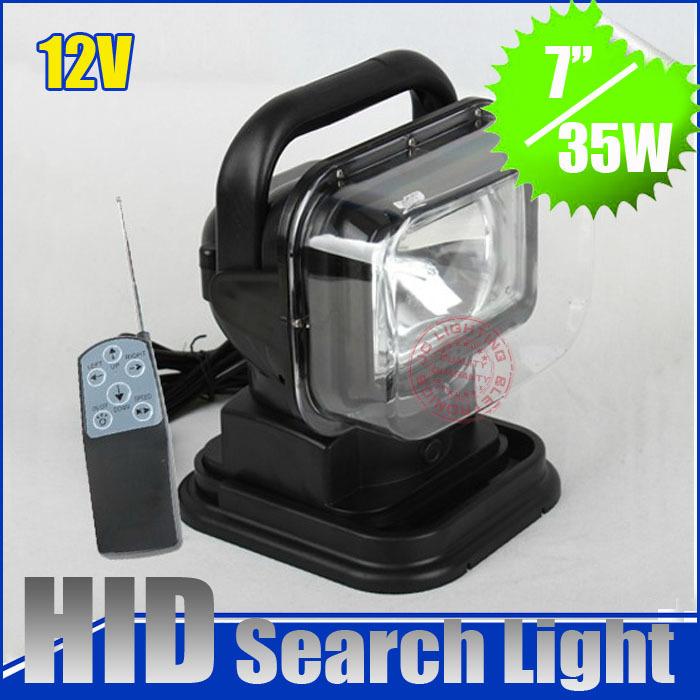 Hot Selling HID Search work Light wireless Remote Control 12V H1 Xenon Bulb Offroad Light 35W 6000K for jeep SUV ATV truck