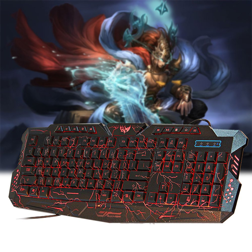 Red/Purple/Blue Backlight LED Pro Gaming Keyboard M200 USB Wired Powered Full N-Key for LOL Dota 2 Computer Peripherals(China (Mainland))