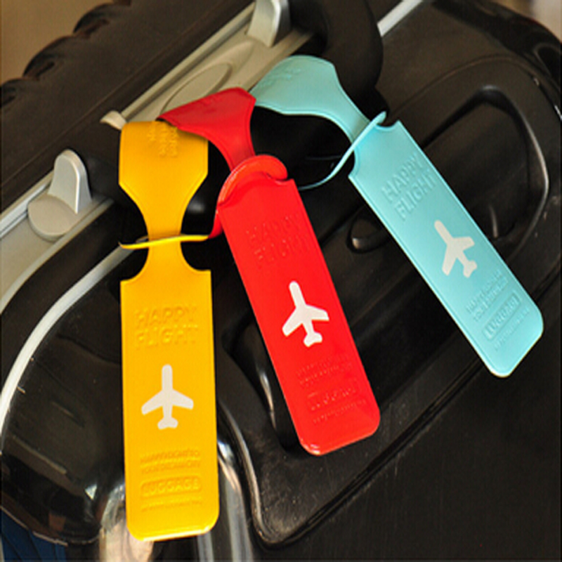 PVC Cute Travel Luggage Label Straps Suitcase ID Name Address Identify Tags Luggage Tags Airplane Travel Accessories RD879246(China (Mainland))
