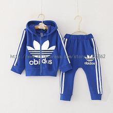 baby boys clothes set brand sport suit jacket for girls 2015 autumn winter zipper coat+pants children's clothing kids clothes