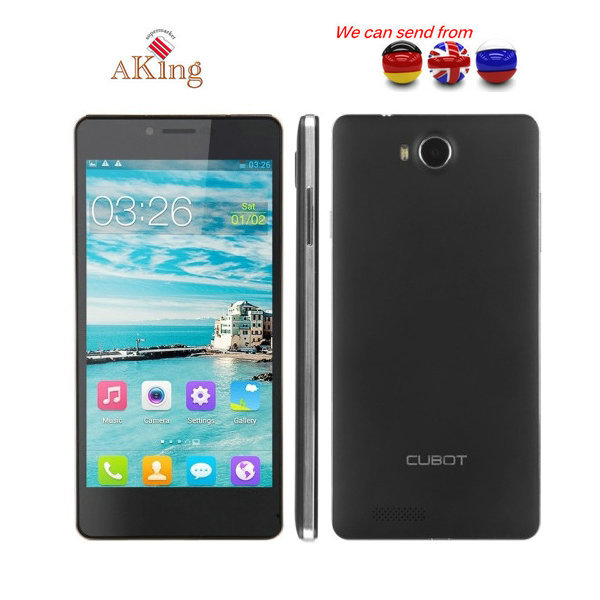 From UK or Germany or CHINA Original Cubot S208 Mobile Phone MTK6582 Quad Core1GB RAM 16GB ROM 5.0 Inch QHD IPS Cell Phones(China (Mainland))