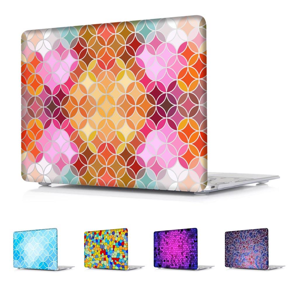 Shinny Hard Shell Case for MacBook Air 13-Inch Air 11-Inch Pro 13 15 Retina 12 13 15 Colorful Stained Glass Texture(China (Mainland))