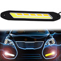 2PCS Car LED Daytime Running Lights DRL Turn Signal Light Indicator COB Car styling Fog Lights
