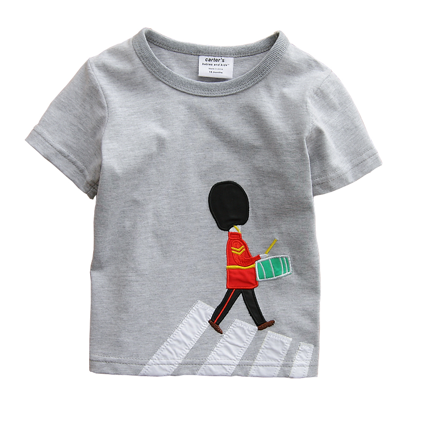 2015 Best Selling Classic Popular Baby Top Tees Streetwear High Quality 2015 Baby Tshirts Solider Applique Craft(China (Mainland))