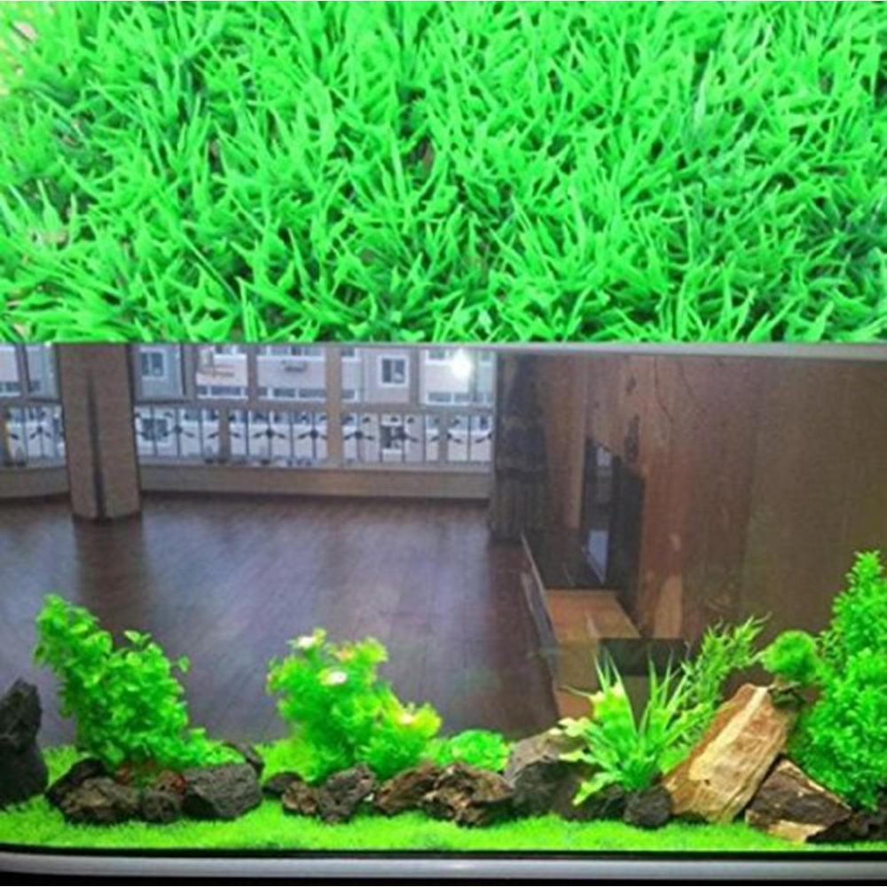 Fish tank in the floor - Fish Aquarium Tank Decoration 25x25 Cm Artificial Aquatic Green Grass Plant Lawn House Showcase Window Floor