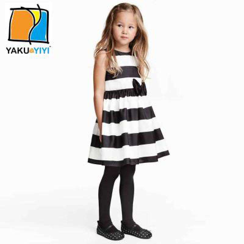 3-12Y Teenage Wear Striped Girls Dresses 2016 Kids Sleeveless Casual Cute Girls A-Line Kids Clothes Vestidos Children Clothing(China (Mainland))