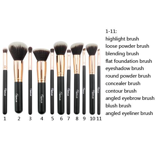 Makeup brush set face