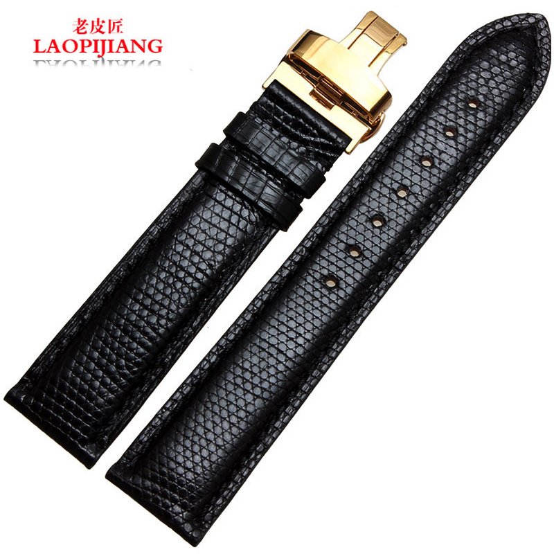Laopijiang the male Butterfly Lizard Leather Strap strap strap accessories high-end fashion18/19/20/21mm<br><br>Aliexpress