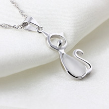 925 Sterling Silver Pendant Crystal Stone Cat Pendants Fit Necklaces Chain For Women Party Birthday Trendy Fashion Jewelry