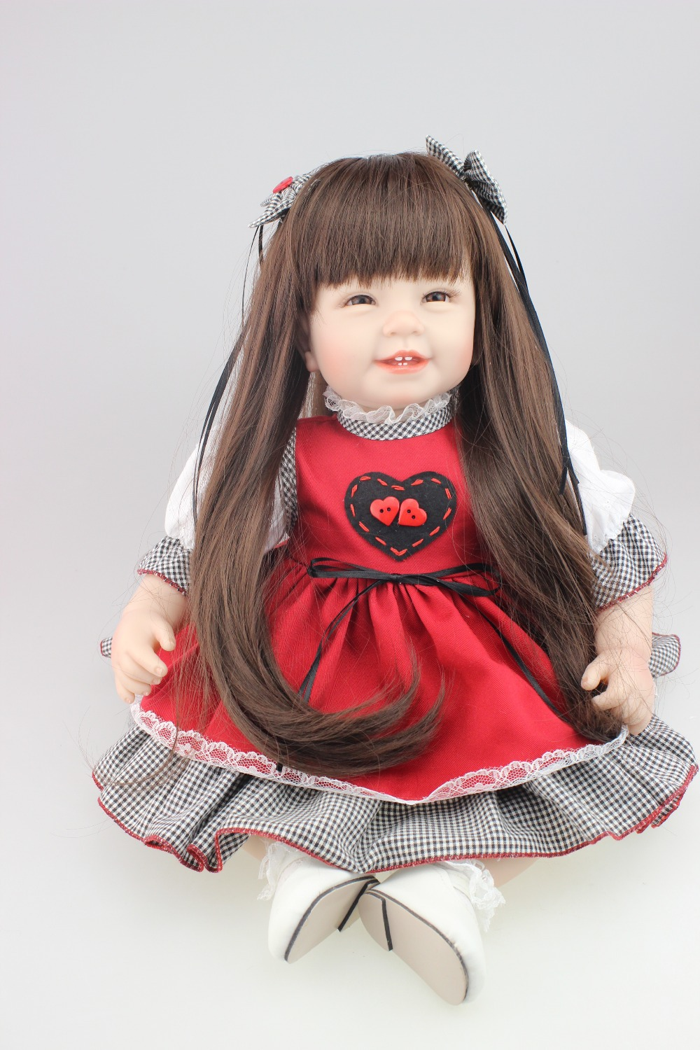 2015new design 22inch Reborn Toddler baby doll  lifelike sweet girl real gentle touch<br><br>Aliexpress