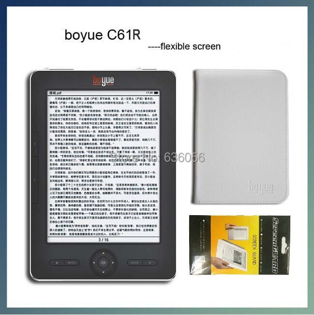 E book Reader BOYUE C61R HD Paper E-book Reader E ink Screen High Resolution WIFI Ebook Gift Leather Case Protective(China (Mainland))