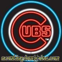 New Chicago Cubs Handicrafted Real Glass Tube Neon Light Beer Lager Bar Pub Sign Multiple Size 24*24(China (Mainland))