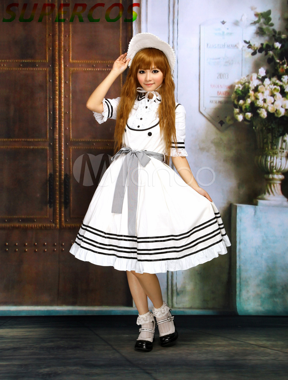 Free shipping! New Arrivals! High quality ! Beige White Cotton Sweet Lolita DressОдежда и ак�е��уары<br><br><br>Aliexpress
