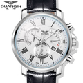 Original GUANQIN Top Brand Luxury Quartz Watches Men Sapphire Mirror Luminous Fashion Men Watch Relogios Masculino