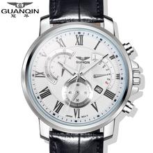 Original GUANQIN Top Brand Luxury  Quartz Watches Men Sapphire Mirror Luminous Fashion Men Watch Relogios Masculino Relojes