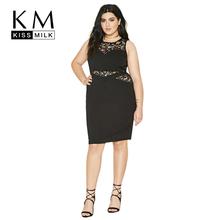 Buy Kissmilk Plus Size Fashion Women Clothing Basic OL Sexy Lace Patchwork Hollow Dress O-Neck Big Size Dress 3XL 4XL 5XL 6XL for $14.27 in AliExpress store