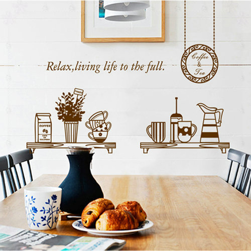 minimalist cabinet bar restaurant kitchen cutlery decoration background removable wall sticker KITCHEN(China (Mainland))