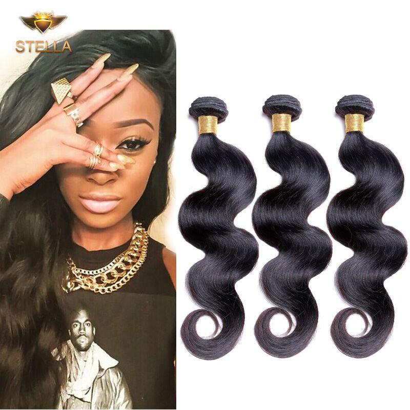 7a Unprocessed Virgin Hair Brazilian Body Wave 3 Bundles Human Hair Weaves Best Brazilian Hair Extension No Tangle No Shedding