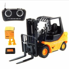 New Mini RC Toy Fork Lift Radio Remote Control Forklift RC Truck Kid Toys(China (Mainland))