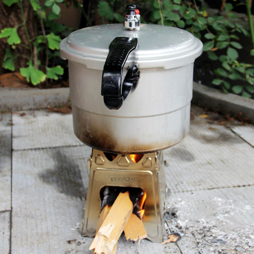 Buy portable outdoor stove lixada compact for Outdoor wood cooking stove