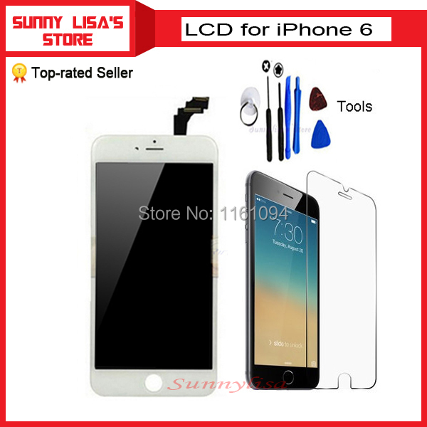 1 piece good quality lcd for iphone 6 Screen panel Touch Screen Display +tools+tempered glass(China (Mainland))