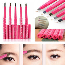 Women Lady Card Grooming Shaping Makeup Tool Waterproof Brown Eyebrow Pencil Eye Brow Liner Pen Powder Shaper Drawing