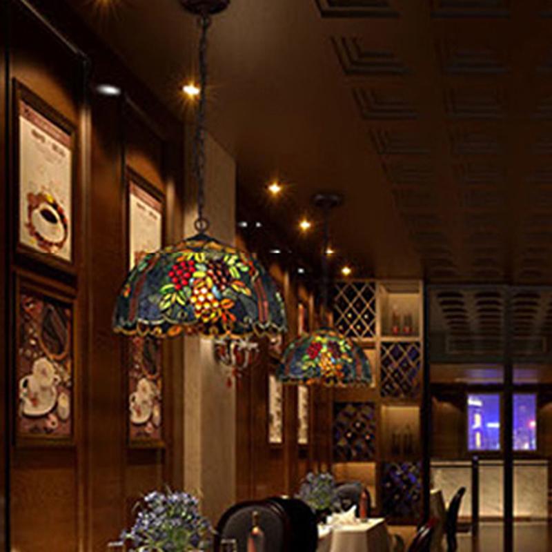 New Vintage Novelty Creative Tiffany Pendant Light lamp Glass Shade For Bar Cafe Store Restaurant Balcony Corridor Hallway(China (Mainland))