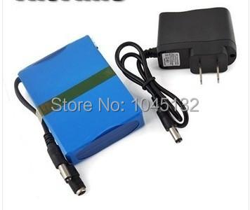 50pcs/LOT Portable 12V Li-ion Super Rechargeable Battery Pack DC for CCTV Camera 2200mAh 68*56*19MM(China (Mainland))
