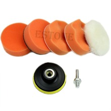 "Free shipping 6PCS High Gross 75mm 3"" Polishing Buffing Pad Kit for Car Polisher Buffer NEW(China (Mainland))"