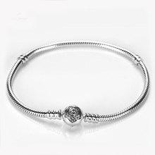 Moments pave star bangle pandora bracelet silver 925 genuine Clasp Charms bracelet DIY Jewelry Making european brand accessory(China (Mainland))