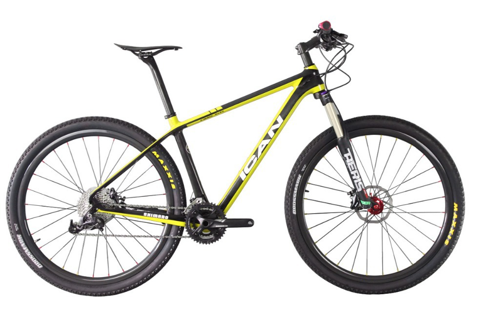 2015 ican 29er carbon mountain bike with Sram X5 groupset mtb carbon frame 29er X6 mtb wheels 25C suspension fork 10.8kg bicycle(China (Mainland))