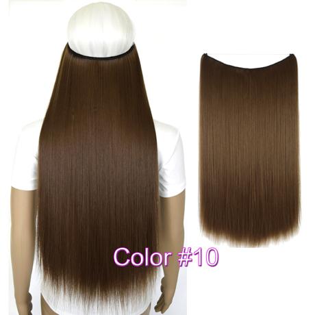 """Верхние термостойкие B5 синтетические волосы 20 """"50 см 50 г эластичность невидимая 10"""