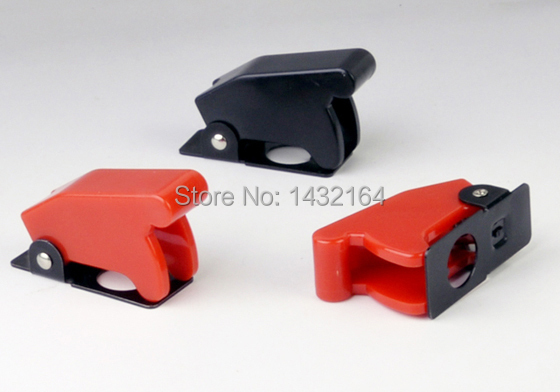100pcs Toggle switch safety Flip Cover Guards Red/Black DHL Free shipping<br><br>Aliexpress
