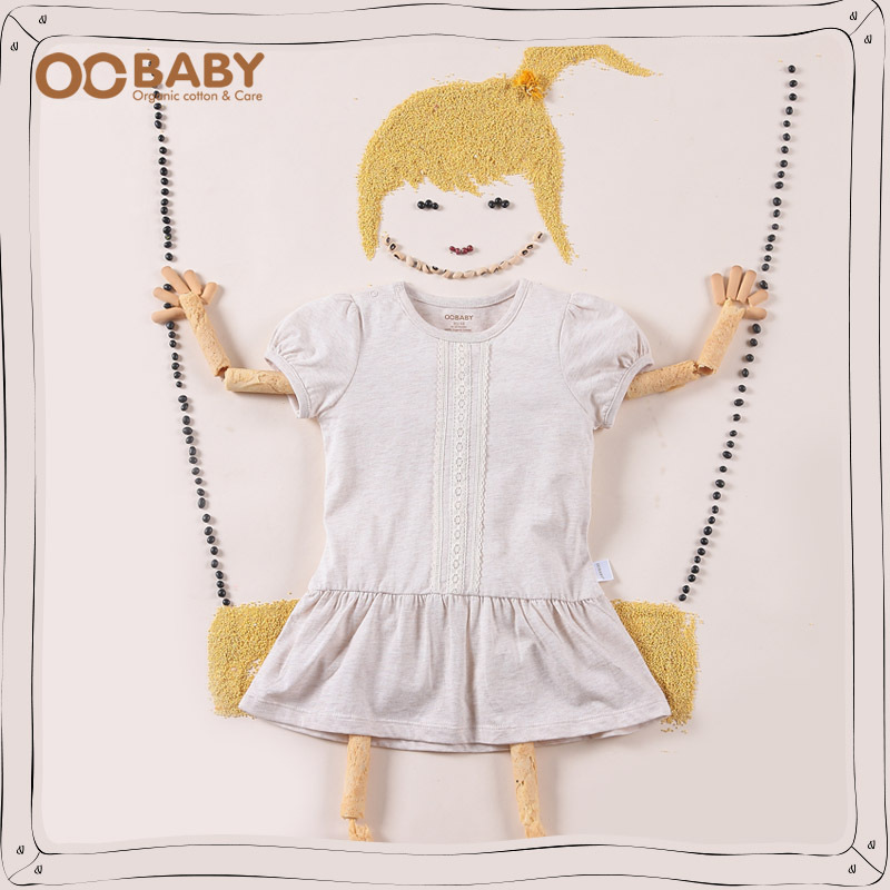 Free Shipping Baby Girls Dresses Girls Infant 100% organic Cotton Clothing Sleeveless Dress Summer Clothes Lace Lovely One-piece(China (Mainland))
