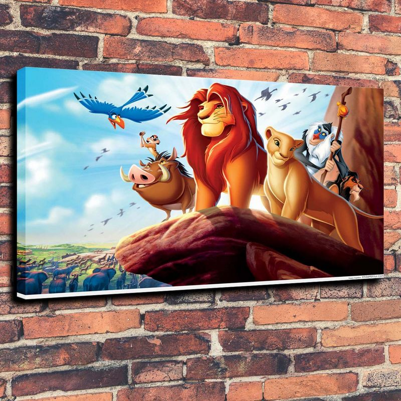 Lion King Cartoon Animated Wallpaper Desktop Mobile Print Oil Painting on Canvas Wall Art Picture Home Decoration ( No Framed )(China (Mainland))