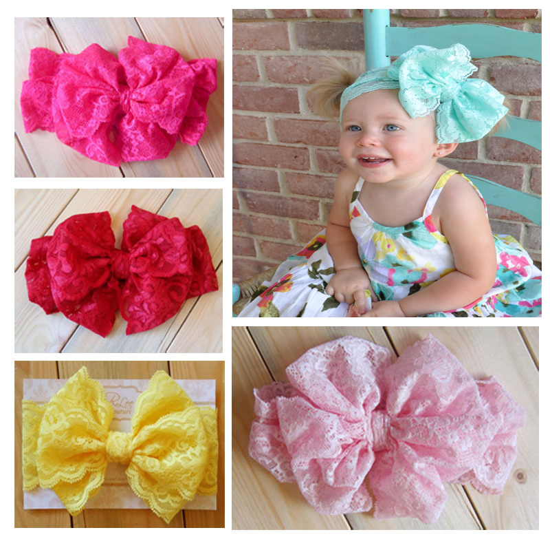 2015 Lace Bow Headwrap - Bow Lace Bow Headband mint lace bow headband Vintage Head Wrap Photo Prop Hair Accessories 7pcs/lotОдежда и ак�е��уары<br><br><br>Aliexpress