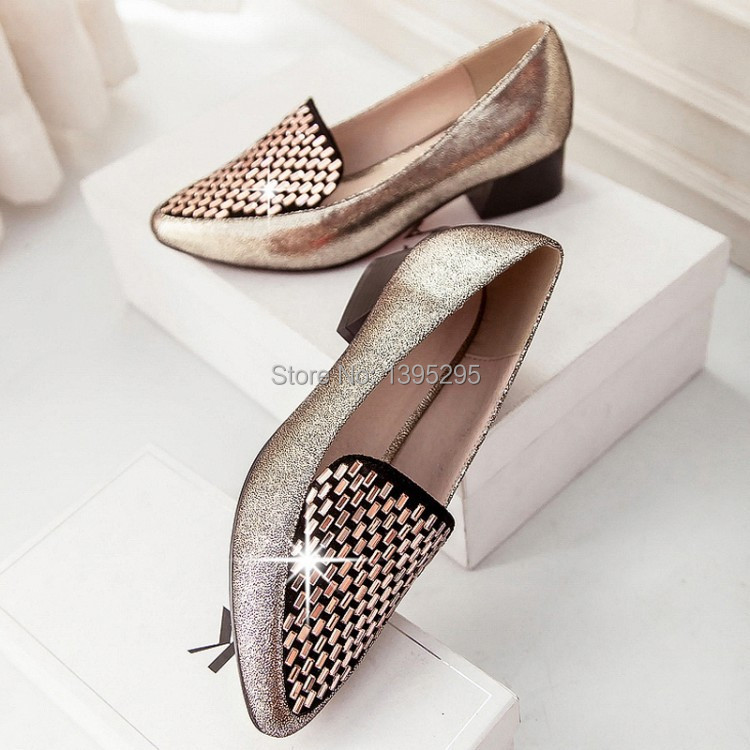 Tendon at the end of the pedestrian area in the new winter opening round set foot singles shoes with thick gold silver free ship<br><br>Aliexpress