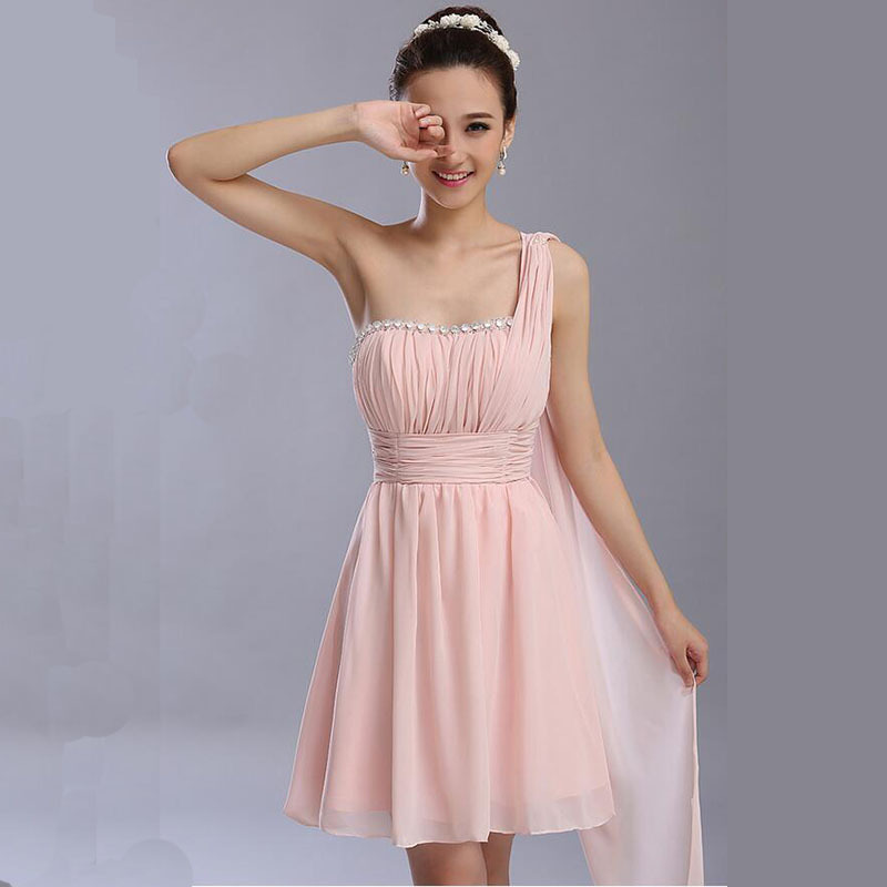 Prom Dresses new short design vestidos beading champagne color party vestido de festa 2017 for graduation Dress(China (Mainland))