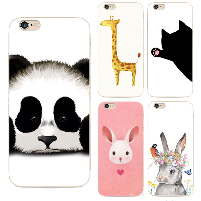 For Iphone6 Fashion Cute Animal Panda Tiger Owl Cartoon Painted Case For Apple Iphone 6 6s Soft Hard Cell Phone Silicone Cover(China (Mainland))