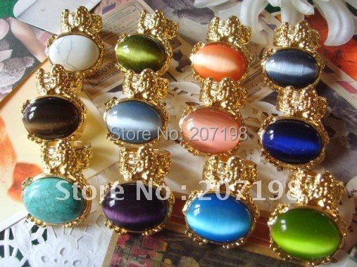 New Womens fashion Gold Arty Big Gemstone Stone Turquoise Rings,  Antique Vintage style 14 color lot of 50<br><br>Aliexpress