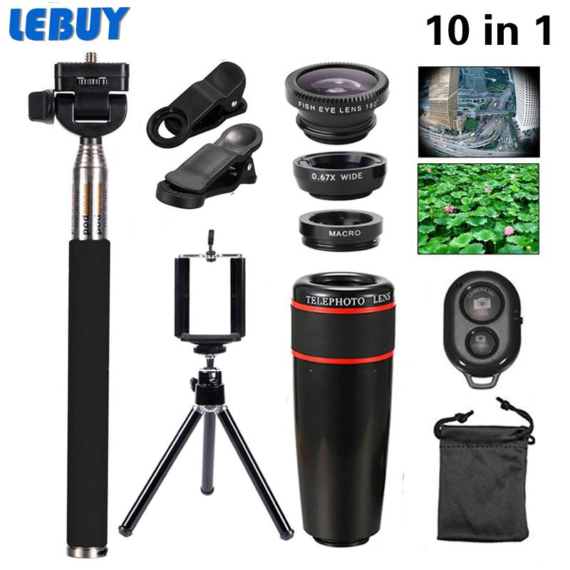2016 New 10in1 Phone Camera Lens Kit 8x Telephoto ...