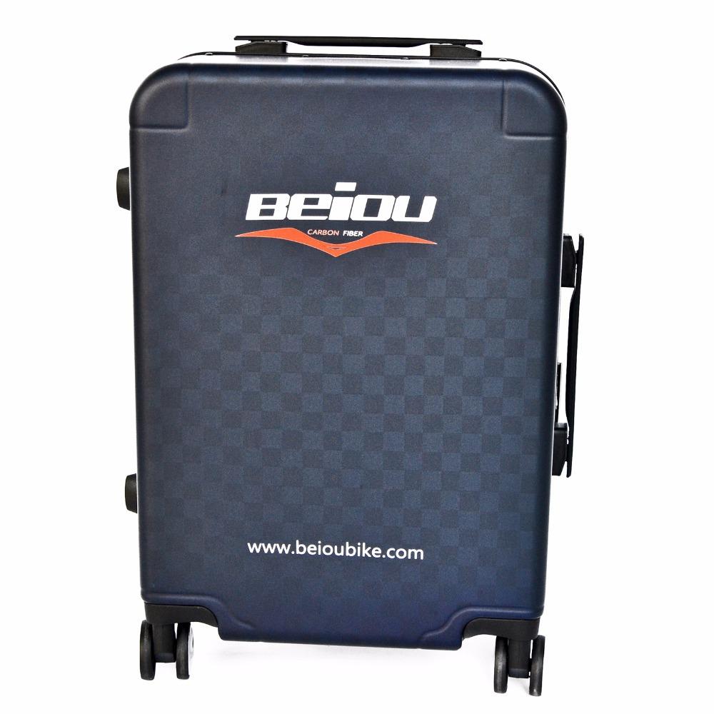 "BEIOU Fashion Strong Carbon Fiber Suitcase Luggage Pure Color Matte Black 16""/18""/20""/21"" XB01(China (Mainland))"